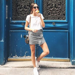 Zara Gingham mini skirt